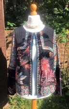 Monsoon Sequin & Floral Open Jacket - Black / Blue / Orange - UK 14 - Worn Once