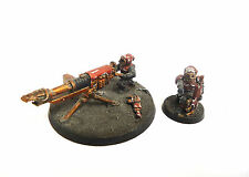 WARHAMMER 40K ARMY BLOOD PACT CHAOS IMPERIAL GUARD HEAVY WEAPON TEAM PAINTED