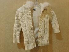 baby Gap Girl Toddler 3 years  Ivory Knit  Coat Jacket lined _____________Hang