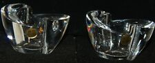 Over-Oltre 24 % Lead Crystal Pair of Votive Candle Holders Made in Italy