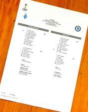 Dynamo Kyiv (Kiev) - Chelsea teamsheet Europa Lge Round of 16,2nd  Leg 14/3/19