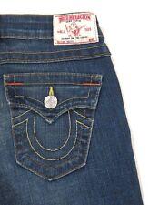 NWT True Religion Jeans Becky Flap Pocket Bootcut in Del Mar Medium Blue sz 25
