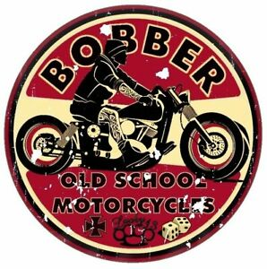 Retro Aufkleber Bobber Old School Motorcycles Sticker Race Retro Vintage #1
