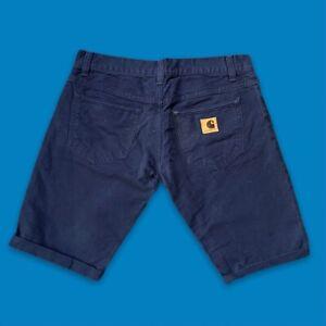 Vintage Carhartt Shorts Navy Fits Size 34 Waist W34 Denim