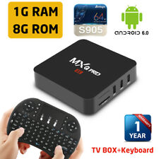US Stock MXQ Pro Smart Android 6.0 TV Box Amlogic S905 4K Wifi HDMI + keyboard