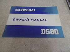 NOS OEM Suzuki Owners Manual 1980 DS80 48 pages 99011-46431-03A