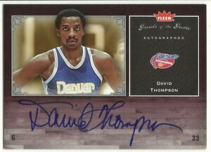 2005-06 GREATS OF THE GAME AUTOGRAPH DAVID THOMPSON DENVER NUGGETS