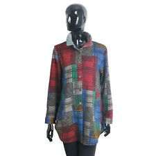 Coats Jackets Tops Blouses Button Down Long Sleeve Shirt Knit  Sweater M Size A5