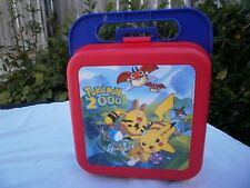 Vintage Tupperware  Children Lunchbox/Supplies Storage Box for Nintendo's Pokem