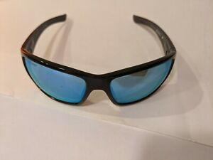 Revo Bearing Sunglasses in Gloss Black with Ice Blue lenses Polarized