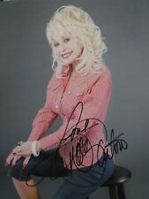 DOLLY PARTON  SIGNED  COLOR PHOTO  (SEATED POSE)