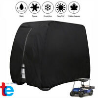 4 Passengers Golf Cart Cover Waterproof for EZGO Club Car Yamaha Zipper Storage