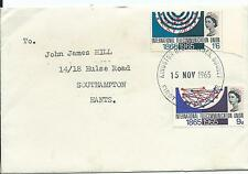 FDC 1965 International Telecommunication Union set 2 FDI Kingston Surrey Typed