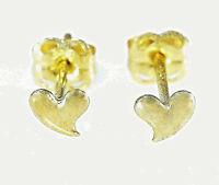 333 Gold kleine Herz Ohrstecker 1 Paar 3,8 mm Grösse