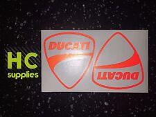 2x DUCATI Shields Reflective SAFETY Motorcycle Helmet Sticker HiViz