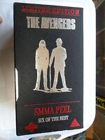 THE AVENGERS BOX SET EMMA PEEL SIX OF THE BEST 3 TAPE VHS VIDEO SET DIANA RIGG 6