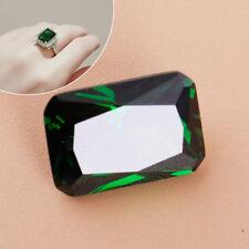 Emerald gemstone facettierter Saphir Künstlich Diamant Grün Sapphire 10x14mm