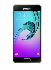 Difettoso Samsung Galaxy A3 SM-A310F 16 GB Gold & Black On O2 Smartphone Mobile
