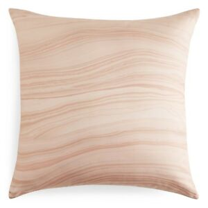 """Oake Agate Marble Collection 20"""" Square Cotton/Silk Decorative Pillow Pink H5059"""