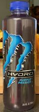NEW MONSTER HYDRO PURPLE PASSION ENERGY DRINK 25.4 FL OZ FULL BOTTLE FREESHIPING