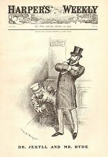Political Cartoon, Tammany, Dr. Jekyll & Mr. Hyde, Vintage 1903 Antique Print