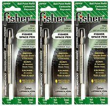 THREE (3) Fisher Space Pen SPR Series Green Ink / Fine Point Refills #SPR3F
