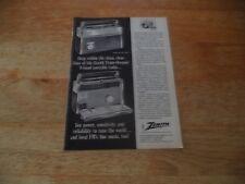 Zenith Trans OCEANIC ROYAL 3000-1 vintage pub 6 4 M Y