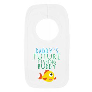Daddys Future Fishing Buddy 1 Baby Bib Funny Sweet Fishing Dad New Baby Boy Gift