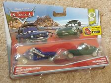 DISNEY CARS 2 PACK BRENT MUSTANGBURGER & DAVID HOBBSCAPP W/HEADSETS WPG SERIES
