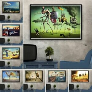 Wall Art Picture Canvas Painting Retro Surrealism Posters Prints Home Decoration