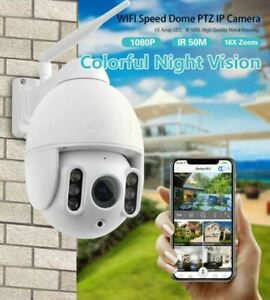 WANSCAM K64 Outdoor PTZ 4X Optical Zoom 1080P IP WiFi Camera Security Dome ONVIF