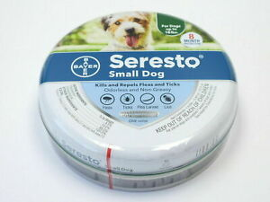 BAYER SERESTO Collar 8 Month Flea & Tick Protection For SMALL DOGS Up to 18 lbs