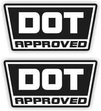 (2x) DOT Approved Motorcycle Helmet Stickers  Decals  Labels D.O.T. 2-pack
