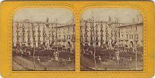 Barcelone Place Stéréo Diorama Stereoview Tissue ca 1865