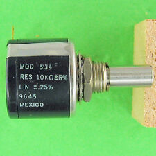 Precision Potentiometer 10K Ohm 5% 10Turn Superior Stop Strength Rugged Spectrol