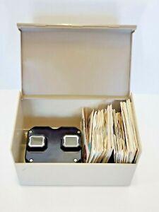 Vintage Sawyers View Master + Reels + Original Plastic Case Bambi Flintstones