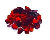 "PREMIUM RUBY RED - 1/4"" Fire Glass Fireplace & Fire Pit Fireglass Glass Crystals"