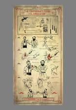 Large Framed Print - The Gentleman's Guide to Amputation (Medical Anatomy Art)