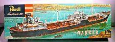 1955 Revell Oil Tanker Plastic Model Kit In Opened Box H-322 J.L.Hanna