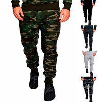 Casual Mens Fashion Jogger Pencil CasualPants Fitness Casual Camo Long Pants