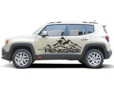 JEEP RENEGADE Gebrige Mountains Aufkleber 4x4 2014-17 im Carbon Style Cool Look