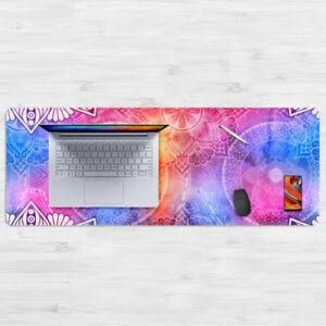 Large Mandala Flower Style Mandalas Mouse Pad Laptop Pad 80*30cm Soft Rubber