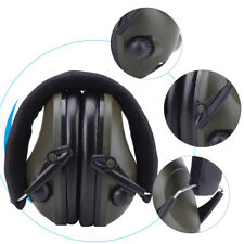 Army Green Active Noise Reduction Earmuffs Headset Ear Defenders Hearing Protect