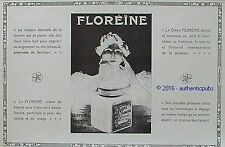 PUBLICITE FLOREINE CREME DE BEAUTE POUDRE SAVON PARFUM A. GIRARD DE 1916 AD PUB