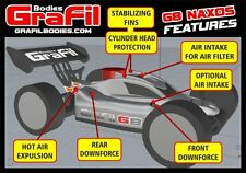 Grafil 1/8 Scale Buggy Body G8 Naxos fits Kyosho Inferno MP9 Mugen MBX7 OFF-GB02