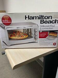 Hamilton Beach 6 Slice Convection Toaster Oven Stainless Steel/White