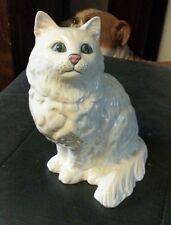 Royal Doulton 8 in (environ 20.32 cm)/20 cm Tall White Persian Cat #1867 Free p&p