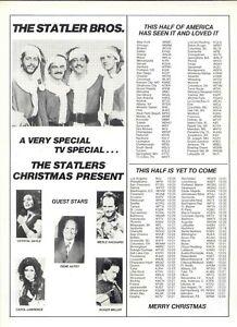 1985 RARE 'STATLER BROS., CHRISTMAS PRESENT' PROMO AD