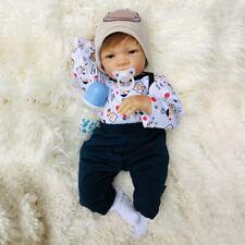 "20"" Realistic Reborn Baby Boy Doll Newborn Toddler Accompany Kids Xmas Gift Toy"