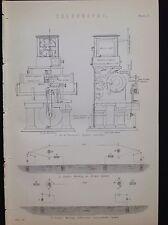 Telegrafía Sir Thompson Sifón Código Morse c1880s impresión Antiguo de transmisión